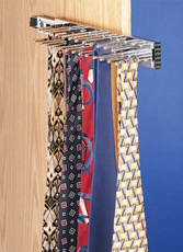 Chrome Tie Rack