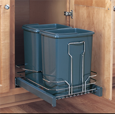 Double 15 At. Pull-Out Waste Container