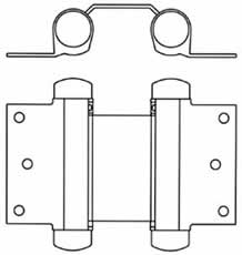 Double Action Spring Hinge - Surface Mount