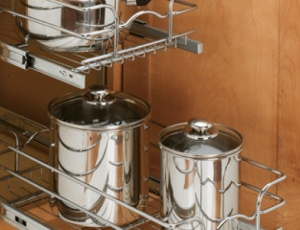 Double Pull-Out Chrome Baskets Rev- A Shelf 5WB Series