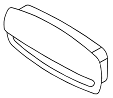 Drawer Pull - Molded Grip