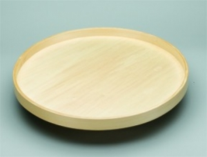 Full Circle Lazy Daisy Tray with Steel Bearings - Banded Wood