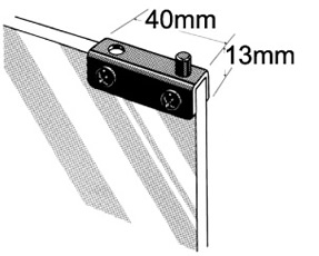 Glass Door Hinge - Shallow Channel