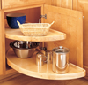 Half Moon Two Shelf Independently Rotating Lazy Susan