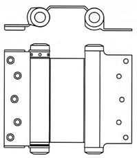 Mortised Double Action Spring Hinge