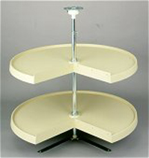Pie-Cut Dependently Rotating Lazy Susan Rev-A-Shelf