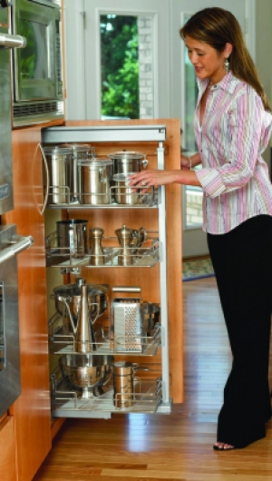 Pull Out Pantry Chrome 5200 Series Rev A Shelf Hampers