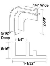 PVC Flush Mount Tambour Door Track System