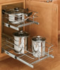 Rev- A Shelf 5WB Series Double Pull-Out Chrome Baskets