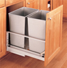 REV-A-SHELF Stainless Steel Door Mount Waste Container