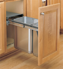 Stainless Steel Under Sink Mount Waste Container