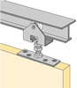 System 1210 - Sliding Door Hardware for Inset Doors