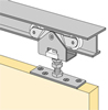 System 1230 - Sliding Door Hardware for Single Doors