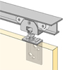 System 71034 - Sliding Door Hardware for 100 lbs Doors