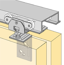 System 72118 - Sliding Door Hardware Bi-Passing