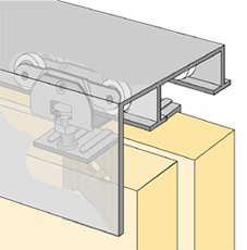 System 73138 - Sliding Door Hardware Bi-Passing