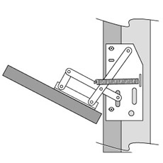 Tip Out Tray Scissor Hinge
