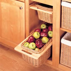 Rev A Shelf Pull Out Rattan Baskets With Rails Rev A