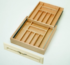 Two Tiered Cutlery Drawer Drawer Organizers Cabinet